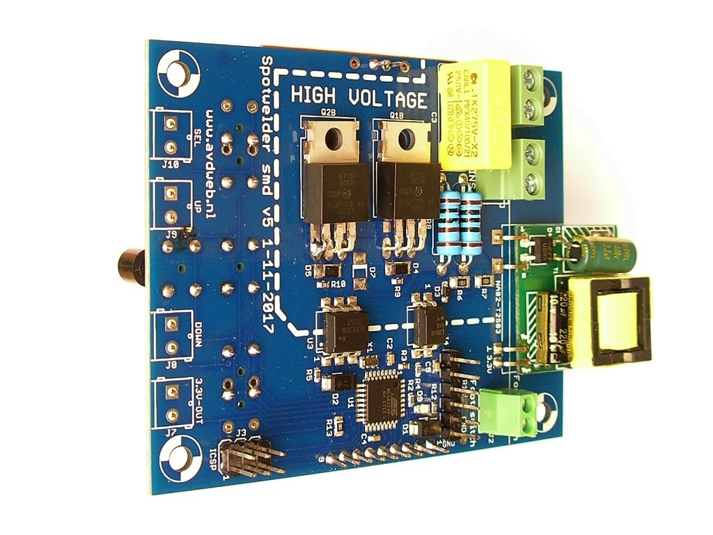 Spot welder controller with TFT display