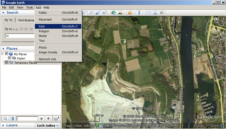 Tracks in google earth starting a new track in google earth gumiabroncs Images