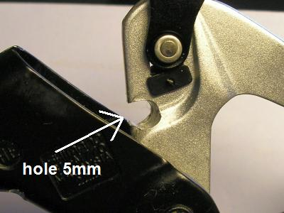 5mm hole for the magnet