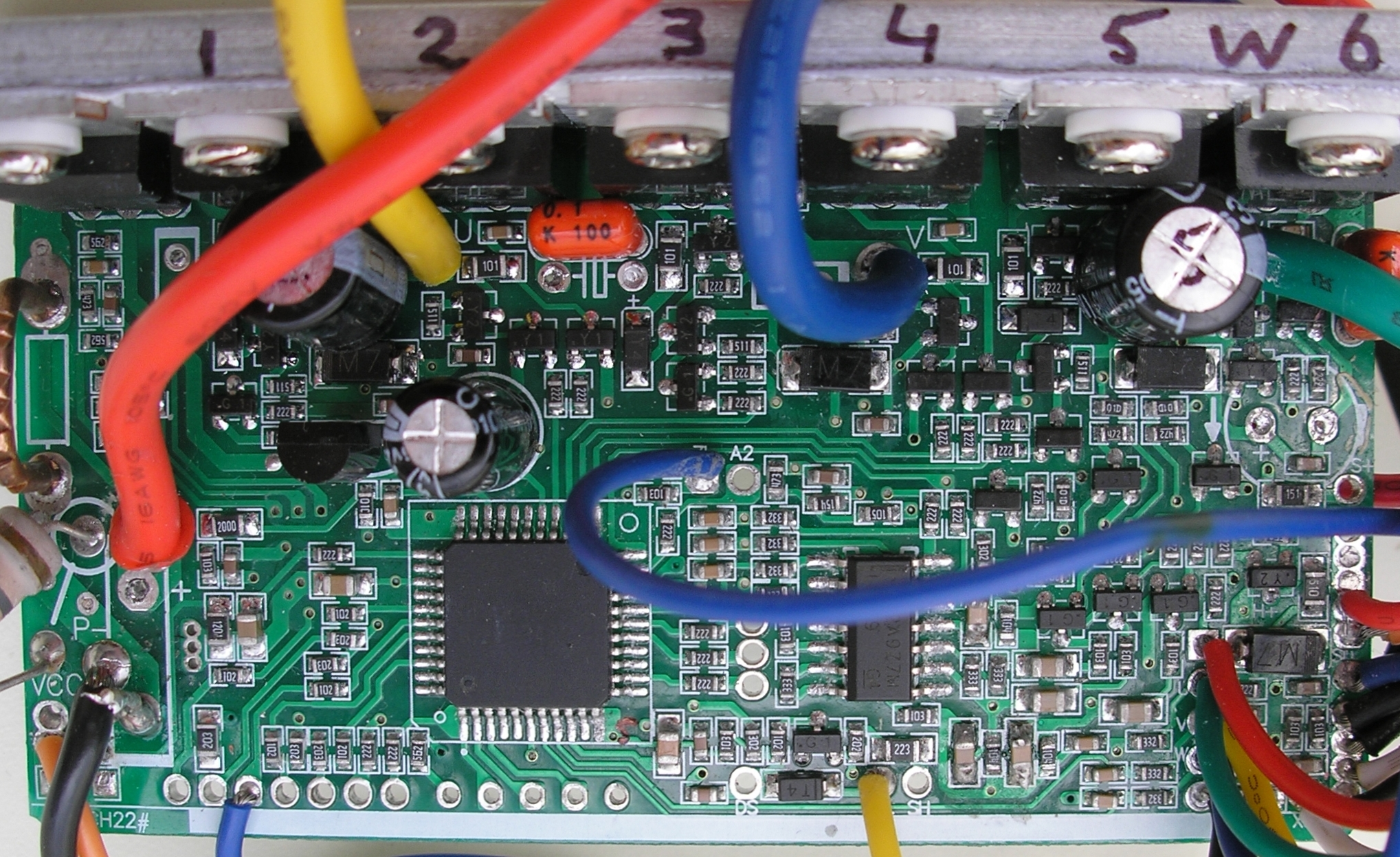 China BLDC motor controller 36V 250W PCB top ku63 motor controller Single Phase Motor Wiring Diagrams at soozxer.org