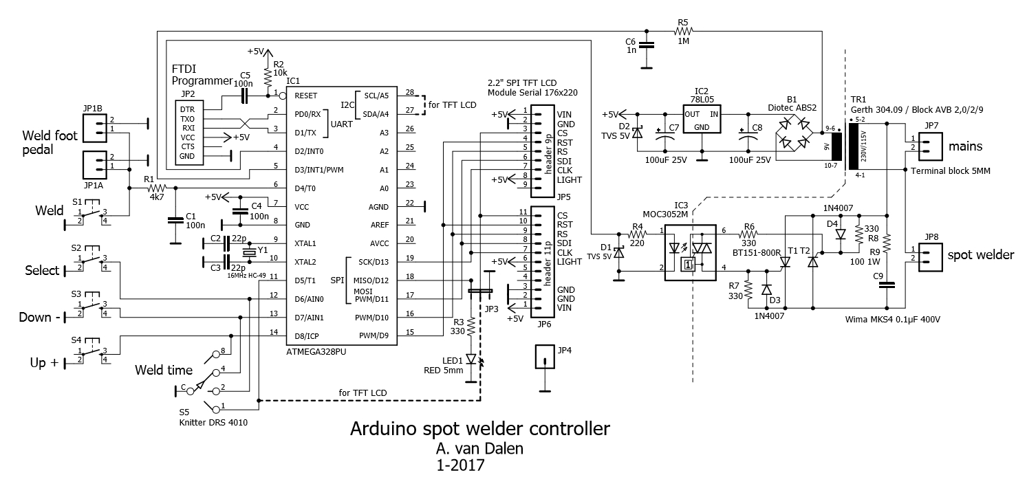 Solid State Timer Wiring Diagram 32 Images At89c4051digitalrealtimeclockcircuitgif Spot Welder Controller Circuit Wirering At