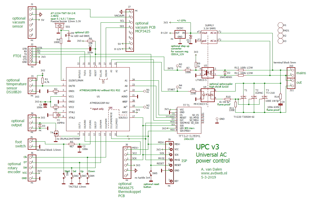 Spot Welder Controller With Tft Display Control Panel Wiring Diagram Dimmer Welding Pulse Timer Circuit
