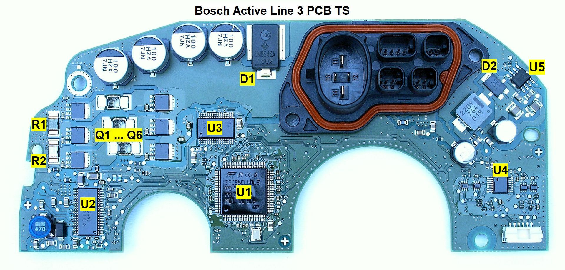 Bosch Active Line 3 Pcb Printed Circuit Card Ts Dismantled