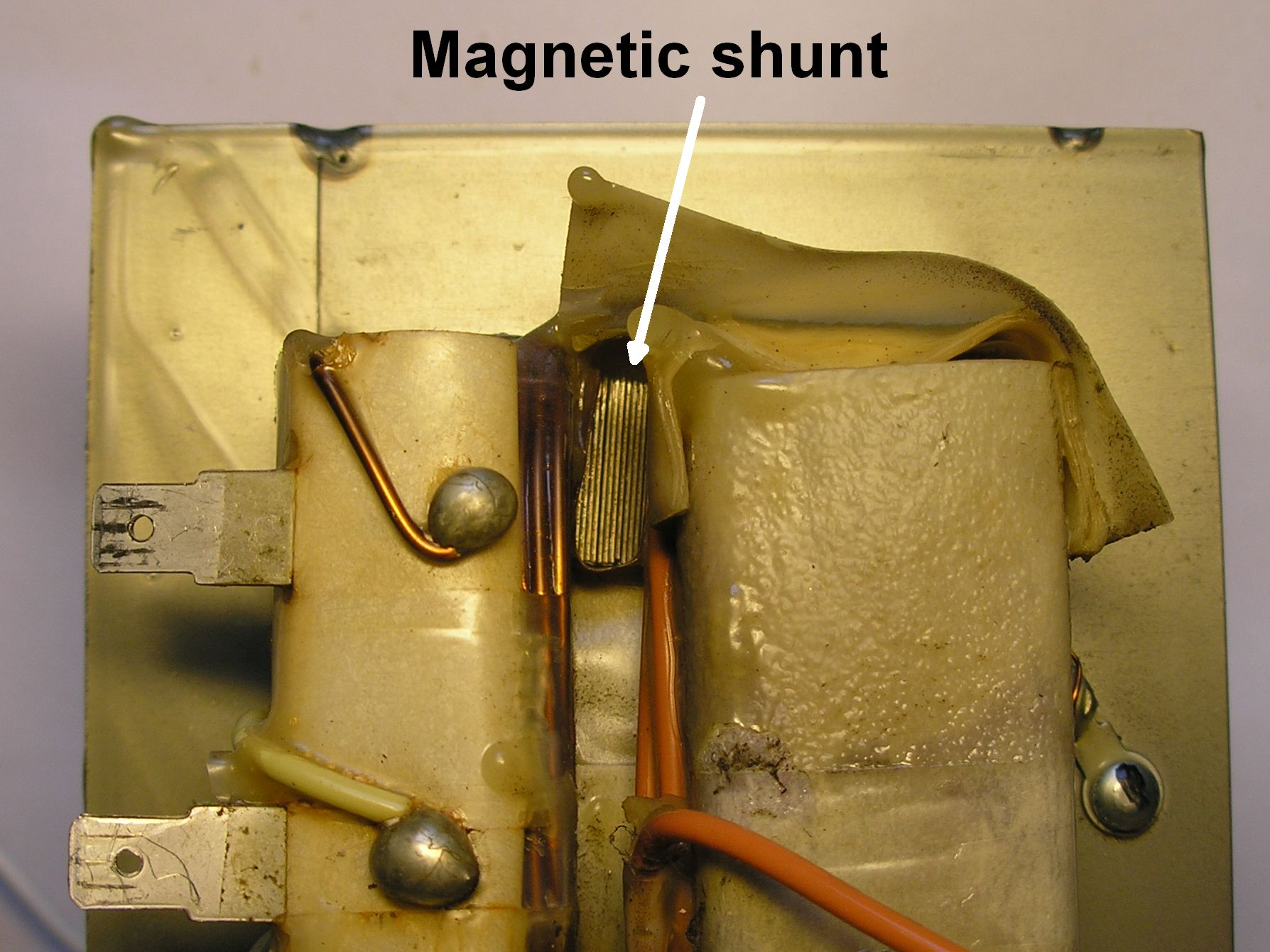Remove the magnetic shunt