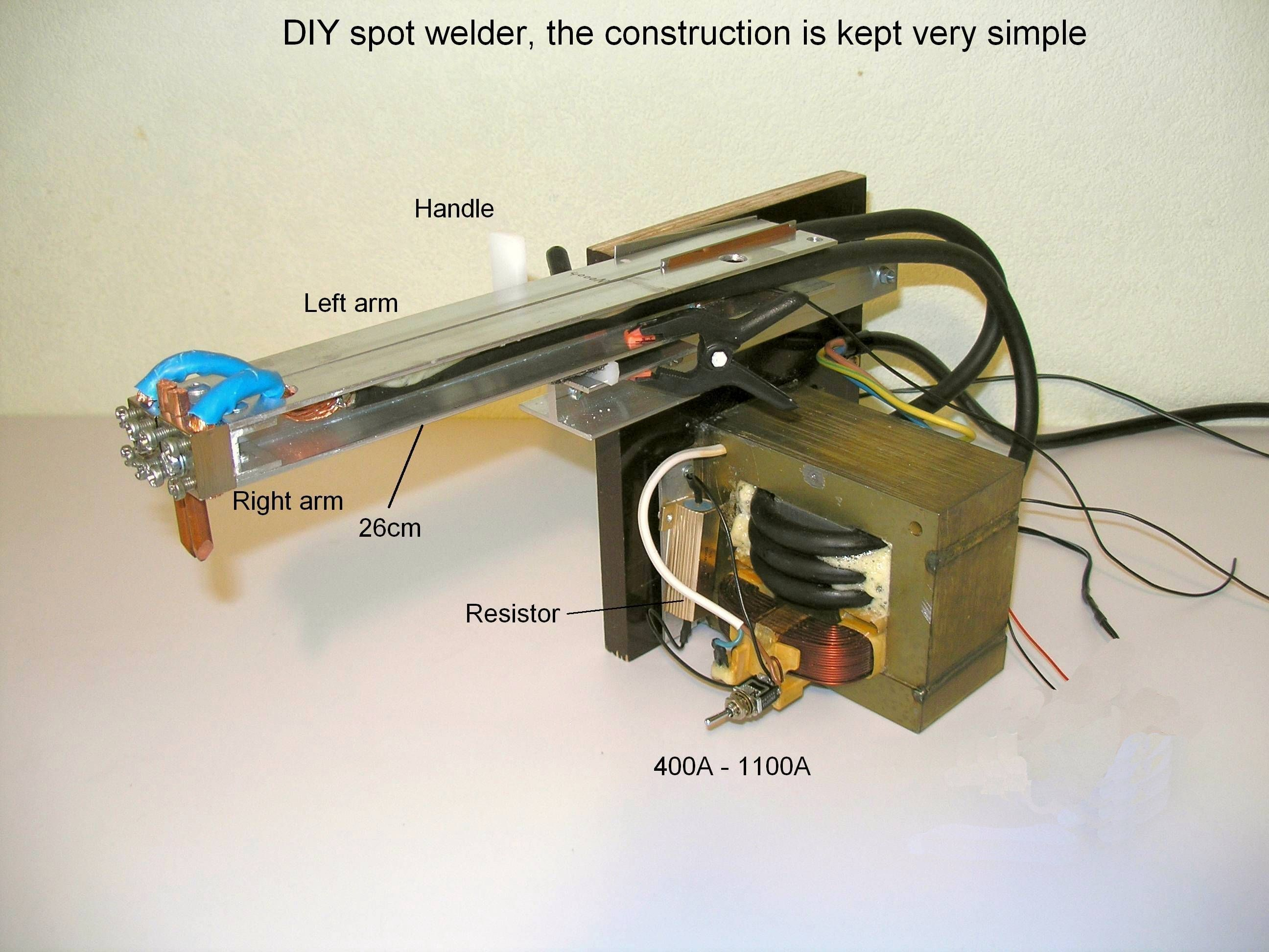 Diy Spot Welder And Wire With High Resistance Has Problems Here Is A Diagram Let Battery Tab Fine