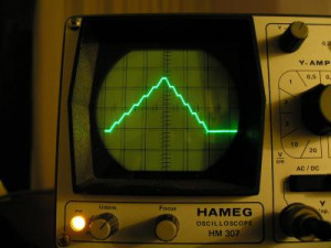 DAC on the oscilloscope