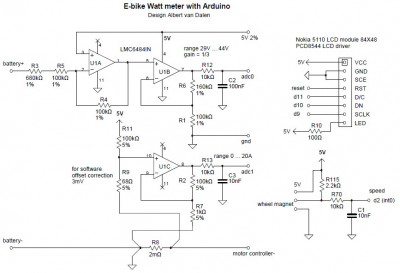 E-bike Watt meter Arduino interface