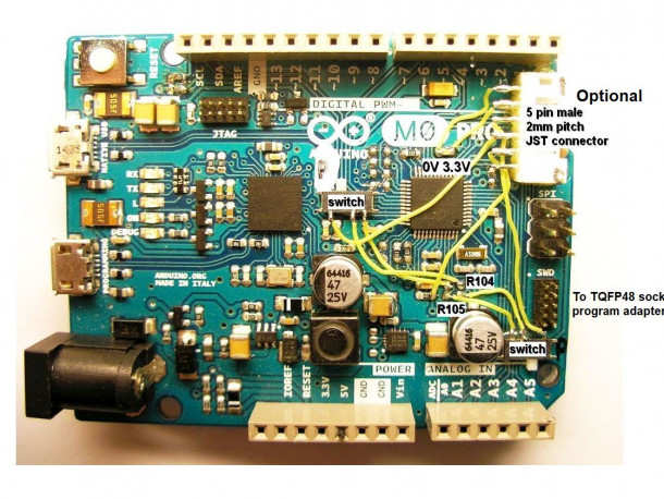 Arduino Zero modifications