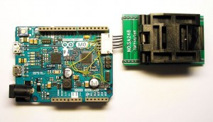 Bare SAMD21G programmer with the Arduino Zero