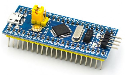 Blue Pill board with the 72MHz Arm Cortex-M3 STM32F103C8T6