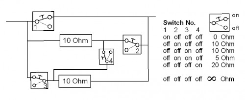 Power limit resistors