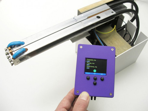 DIY battery tab spot welder with controller