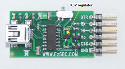 FTDI adapter 5V/3.3V out breakout WITH regulator