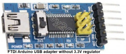 Fake FTDI adapter 5V/3.3V breakouts without regulator