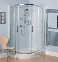 Use a shower cabin as dust-free room