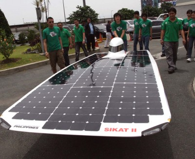 Solar car with Sunpower solar cells