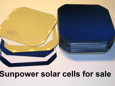 Sunpower single monocrystalline solar cells for sale