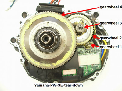 Yamaha PW SE tear down