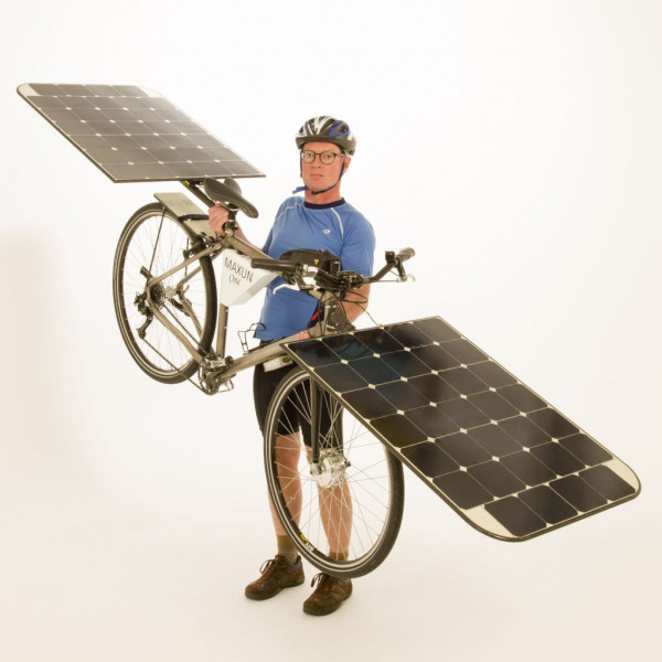 E-bike on free solar power