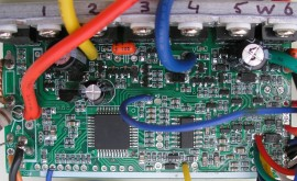 KU63 motor controller top, without some capacitors