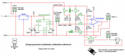Digital multimeter DC voltage calibration DIY