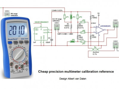 Precision multimeter calibration reference