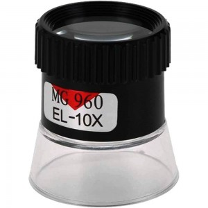 Monocular jewelers 10x magnifying loupe with double lens