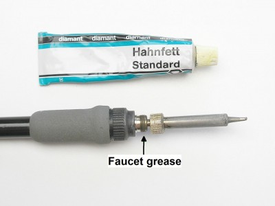 Faucet grease for lubricating soldering iron